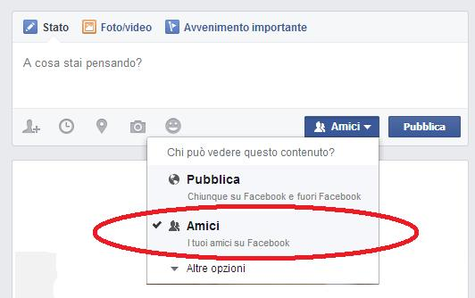 come impostare privacy post facebook 3