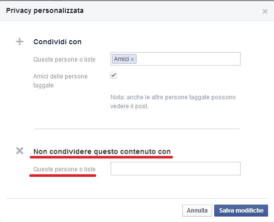 come impostare privacy post facebook 7