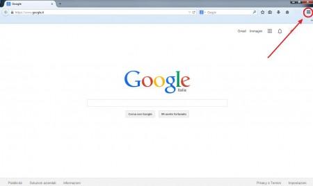 impostare google pagina iniziale 1